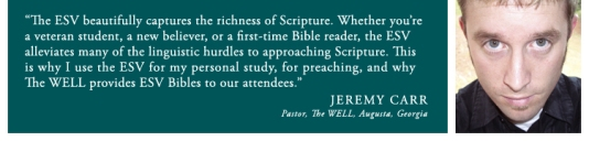 Jeremy Carr and ESV Banner